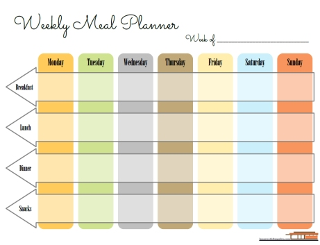 Contemporary Weekly Meal Planner Free Planner Printable