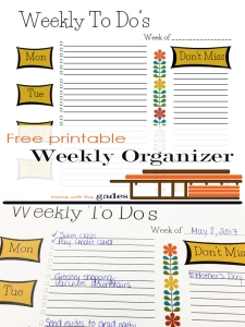 Free printable -Modern theme - Weekly To Dos Planner