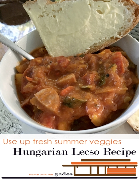 Use up fresh summer veggies Hungarian Polish Lecso Recipe